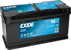 Exide AGM 105Ah 950A Jobb+ (EK1050)