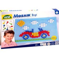 LENA Mozaik készlet - 10mm-es 200 darabos, fiús színekben
