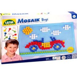 LENA Mozaik készlet fiús színekben 200 db-os (35612)