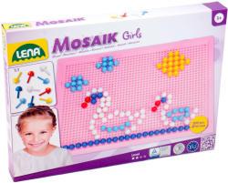 LENA Mozaik készlet - 10mm-es 200 darabos, lányos színekben