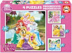 Educa Disney hercegnők Palace Pets: Palota kedvencek 4 az 1-ben 12-16-20 és 25 db-os (16172)