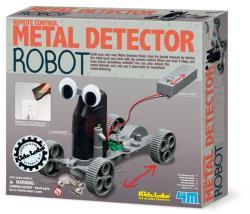 Fémkereső robot távirányítóval