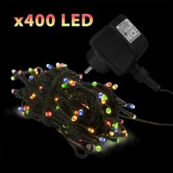 400 LED-es szines égősor - 50m (55219)