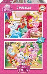 Educa Disney hercegnők Palace Pets: Palota kedvencek 2x20 db-os (16170)