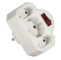 Hama 1 Plug + 2 Euro Plug Switch (108846)