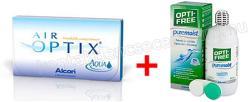 akciós csomagok 1 doboz air optix aqua (3db) + 1doboz opti free pure moist (300ml) (360ml)