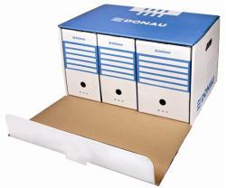 DONAU Archiváló konténer előre nyíló kék (D76673K)