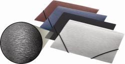 Panta Plast Simple Gumis mappa 15 mm A5 PP metál fekete (INP4105801)