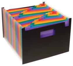 Viquel Rainbow Class Harmonika mappa 25 rekeszes PP fekete (IV110987)