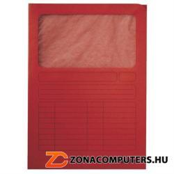 Leitz Mappa ablakos A4 karton piros (E39500325)