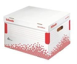 Esselte Speedbox Archiváló konténer felfelé nyíló karton fehér (E623914)