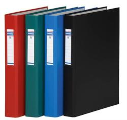 DONAU Gyűrűs könyv 2 gyűrű 40 mm A4 PP/karton piros (D3734P)