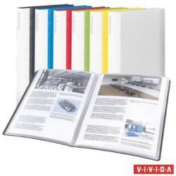 Esselte Vivida Bemutatómappa 20 zsebes A4 feliratozható vegyes szín (E623987)