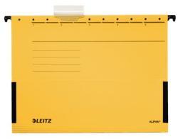 Leitz Alpha Függõmappa oldalvédelemmel A4 karton sárga (E19860015)