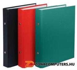DONAU Gyűrűs könyv 2 gyűrű 30 mm A5 PP/karton fekete (3718FK)