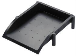 HELIT Irattálca műanyag fekete (INH6391195)