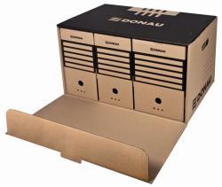 DONAU Archiváló konténer előre nyíló barna (D76673N)