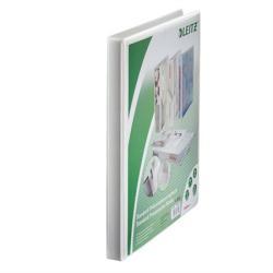 Leitz Gyűrűs könyv panorámás 4 gyűrű 30 mm A4 Maxi PP fehér (42820001)
