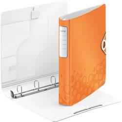 Leitz Active Wow Gyűrűs könyv 4 gyűrű 52 mm A4 PP narancs (42400044)