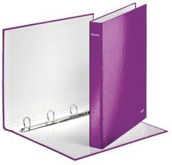 Leitz Wow Gyűrűs könyv 4 gyűrű 40 mm A4 Maxi karton lila (42420062)