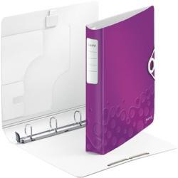 Leitz Active Wow Gyűrűs könyv 4 gyűrű 52 mm A4 PP lila (42400062)