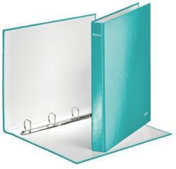 Leitz Wow Gyűrűs könyv 4 gyűrű 40 mm A4 Maxi karton jégkék (42420051)