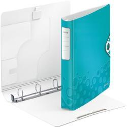Leitz Active Wow Gyűrűs könyv 4 gyűrű 52 mm A4 PP jégkék (42400051)