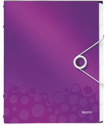 Leitz Wow Előrendező 6 részes A4 műanyag lila (46330062)