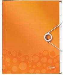 Leitz Wow Előrendező 6 részes A4 műanyag narancs (46330044)