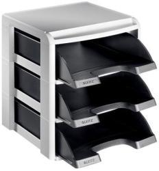 Leitz Plus Irattálca műanyag 3 fiókos fekete (53270095)