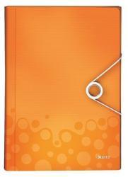 Leitz Wow Harmonika mappa 6 rekeszes A4 PP narancssárga (45890044)