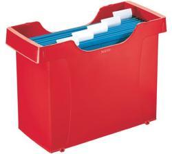 Leitz Plus Függőmappa tároló műanyag 5 db függőmappával piros (19930025)