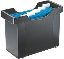 Leitz Plus Függőmappa tároló műanyag 5 db függőmappával fekete (19930095)