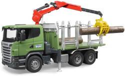 BRUDER Scania R-szériás rönkszállító autó - 55cm (03524)