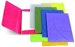 Forpus Barocco gumis mappa A/4 műanyag lila