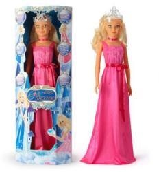 Falca Toys Hercegnő állóbaba pink ruhában - 105 cm