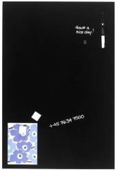 Naga Mágneses üvegtábla, üveg mágnestábla, fekete 40x60 cm (NG10501)