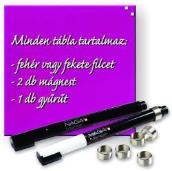 Naga Mágneses üvegtábla, üveg mágnestábla, pink 45x45 cm (NG10721)