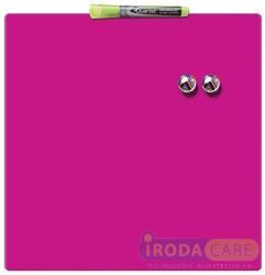 Nobo Quartet üzenőtábla, mágneses, írható, rózsaszín 36x36 cm (VN3803)