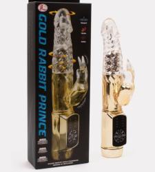 LyBaile Gold Rabbit Prince forgógyöngyös klitoriszkaros vibrátor