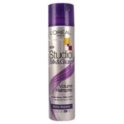 L'Oréal Studio Silk&gloss Extra Volume Hajlakk