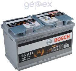 Bosch S5 AGM 80Ah 800A Jobb+ 0092S5A110