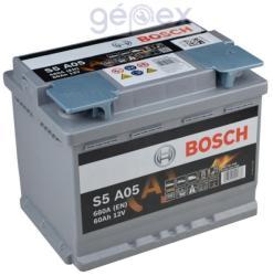 Bosch S5 AGM 60Ah 680A Jobb+ 0092S5A050