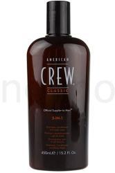 American Crew 3in1 sampon, kondícionáló, tusfürdő 450ml