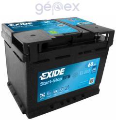 Exide EFB 60Ah 540A Jobb+ (EL600)