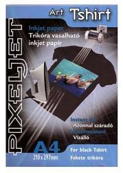 PIXELJET Art Tshirt black fekete pólóra vasalható fólia (589350)