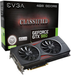 EVGA GeForce GTX 980 Classified ACX 2.0 4GB GDDR5 256bit PCIe (04G-P4-3988-KR)