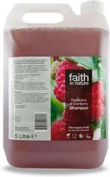 Faith in Nature Málna és vörösáfonya sampon 5000ml