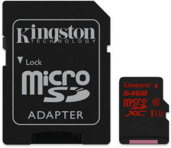 Kingston MicroSDXC 64GB UHS-I U3 SDCA3/64GB