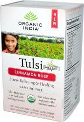 Organic India Tulsi Cinnamon Rose Fahéjas Rózsa Tea 18 filter
